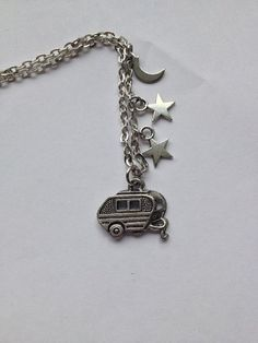 Glamping under the Stars Necklace / Glamping / Camping / Caravan/ Black Bow / Camper / RV on Etsy, $16.00