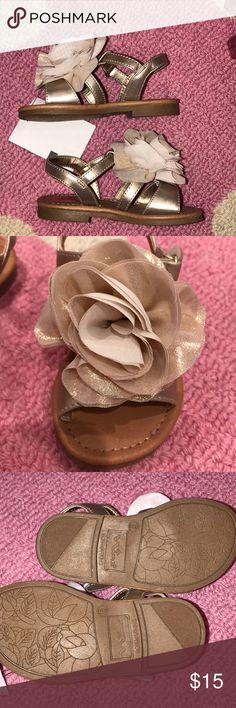 Nina Toddler Sandal Gold Flower Gorgeous gold sandal. Looks beautiful with shorts or a dress. Would work with a casual outfit or dressed up. New with tags! Nina Shoes Sandals & Flip Flops