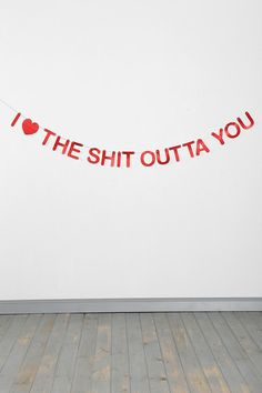 V-Day Gifts For Any Kind Of Relationship Banner sold through Urban Outfitters - Too Funny! Valentines Day Presents, Be My Valentine, Valentine Banner, Funny Valentine, Lizzie Hearts, Isak & Even, My Sun And Stars, Lovey Dovey, Cute Gifts
