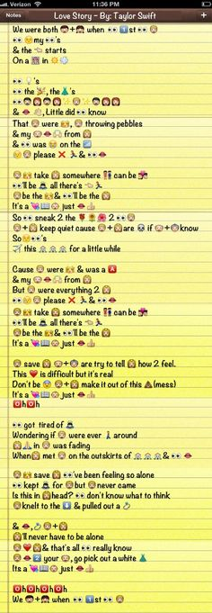 Taylor Swift Song + Emoji ='s should be studying but instead this happened lol