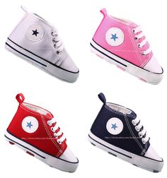 Infant Toddler Baby Boy Girl Soft Sole Crib Shoes Sneaker Newborn to 18 Months #CribShoes