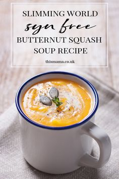 Slimming world butternut squash soup Slimming World Soup Recipes, Slimming World Lunch Ideas, Slimming World Recipes Syn Free, Slimming World Bolognese, Butternut Squash Soup, Great Recipes, Food Processor Recipes, Loosing Weight, Lose Weight