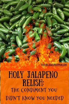 Here's How To Make Holy Jalapeno Relish, The Condiment You Didn't Know You Needed Until You Tried It. Water Bath Canning Instructions Are Included. The Organic Prepper Hot Pepper Recipes, Hot Sauce Recipes, Relish Recipes, Jelly Recipes, Canning Recipes, Veggie Recipes, Mexican Food Recipes, Canning Tips, Fresh Jalapeno Recipes