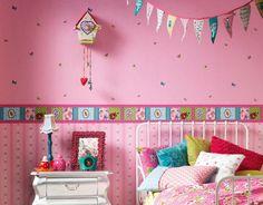 Good tapete kinderzimmer rosa m dchenzimmer dekoideen farbig