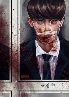 Exo Fanart Kyungsoo scary but cute Kaisoo, Chanbaek, Kyungsoo, Kpop Exo, Gangsters, Park Chanyeol, Nayeon, Exo Fanart, Exo Do