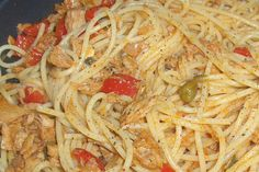 Fish Recipes, Recipies, Spaghetti, Food And Drink, Pasta, Cooking, Ethnic Recipes, Template, Decor