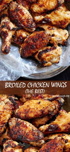 Broiled chicken wings - succulent and delicious, cooked in just 20 minutes. Forget about baked chicken wings. This is the best chicken wings recipe. These are some of the tastiest oven cooked chicken wings, period. Perfect for game days and parties. | ifoodblogger.com