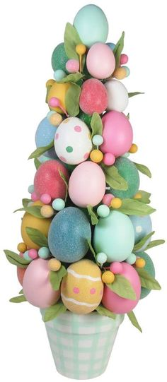 Celebrate Easter Together Artificial Egg Topiary Indoor Decor #affiliate