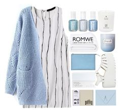 """#Romwe"" by credentovideos ❤ liked on Polyvore featuring Chanel, NARS Cosmetics, Frette, Fresh, women's clothing, women's fashion, women, female, woman and misses"