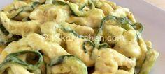 Straccetti di pollo con zucchine e crema al latte | Kikakitchen