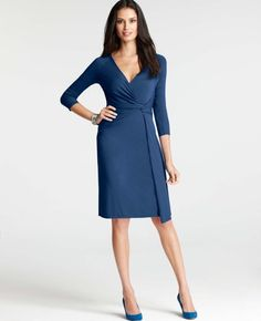 Ann Taylor - AT Dresses - Knit Jersey Side Twist Dress