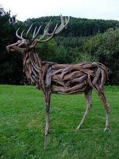 Heather Jansch is a British sculptor notable for making life-sized sculptures of horses from driftwood. She has also used cork as a material in her creations