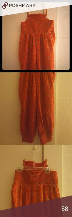 Red Orange Flower Spotted Jumper Brand New Beautiful Old Navy Jumper!!! Old Navy One Pieces