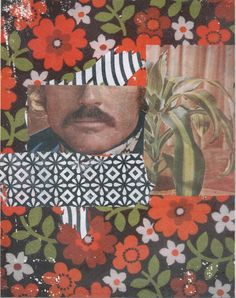 "'Mustache' 8"" x 11"" (approx) gel transfers on 140 lb / 300 gsm watercolor paper. Un-Framed."