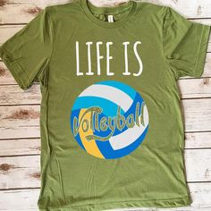 Life Is Volleyball 157 Great volleyball t shirt/mug/bag gift for family, friends, volleyball players, volleyball lovers or any women, men, girls, boys you know who loves volleyball. - get yours by clicking the link in my profile bio. Volleyball Pictures, Volleyball Players, Great T Shirts, Gifts For Family, Boys, Girls, Profile, Lovers, Hoodies