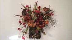 Summer, Fall Wreath, 2 looks Grapevine Basket Transition Wreath, Rustic Country, Autumn Door, Kitchen, Floral Arrangement, FREE SHIPPING by GiftsByWhatABeautifu on Etsy