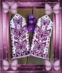 Ravelry: Papilio mittens pattern by JennyPenny Knitted Mittens Pattern, Crochet Mittens, Fingerless Mittens, Knitted Gloves, Knit Crochet, Crochet Hats, Double Knitting, Loom Knitting, Knitting Stitches