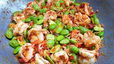 กับข้าวกับปลาโอ 751 สะตอผัดกะปิกุ้งสดหมูสับ ได้แรงอก Stir-Fried Bitter Bean with Shrimp Paste - YouTube Shrimp Paste, Thai Recipes, Kung Pao Chicken, Stir Fry, Pasta Salad, Fries, Thailand, Food, Crab Pasta Salad