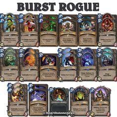 #hearthstone Burst Rogue   S19