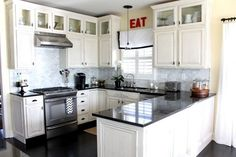 9 Simple and Stylish Tricks Can Change Your Life: Kitchen Remodel With Island Range Hoods kitchen remodel modern floors.U Shaped Kitchen Remodel With Island kitchen remodel layout tile.U Shaped Kitchen Remodel Ideas. White Kitchen Cabinets, Kitchen Cabinet Design, Kitchen Designs, Upper Cabinets, Glass Cabinets, Kitchen Island, Kitchen White, White Cupboards, Display Cabinets