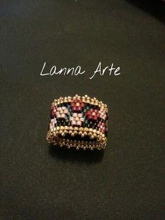 Peyote Band Rings Spring Jewelry Myuki Ring Seed Bead Ring Stackable Ring Set