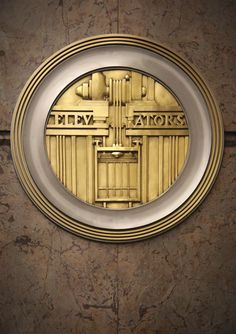 Art Deco Elevators Signs at Empire State Building in New York City.  Photo by Sylvain Martel