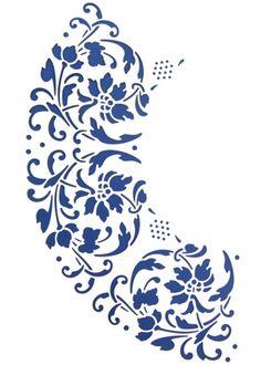 Stencils, Stencil Art, Boarders And Frames, Stencil Printing, Persian Pattern, Stencil Patterns, Motif Floral, Paint Designs, Ink Art