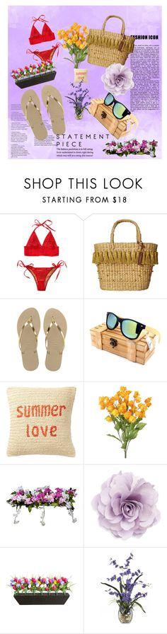 """contest"" by mirjana15 ❤ liked on Polyvore featuring Beach Bunny, White Stuff, Havaianas, Nordstrom Rack, Improvements and Cara"