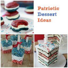 Patriotic Dessert Ideas #dessert #recipe #4thofjuly #patriotic