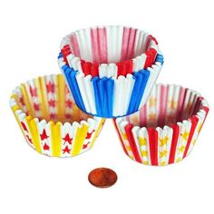 Carnival Themed Cupcake Liners