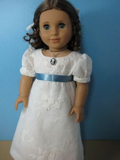 18 inch Doll Clothes American Girl Ivory  Gown by nayasdesigns, $55.00
