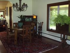 Craftsman Bungalow Dining Room 2013 - facing East.