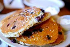 Pancakes myrtilles et bleuets