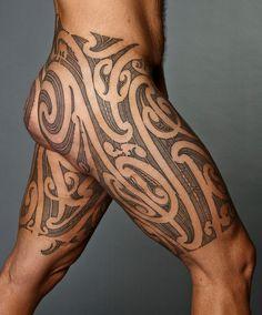 Maori design tattoo for the trousers thigh upper leg koru Maori Designs, Body Art Tattoos, Tribal Tattoos, Polynesian Tattoos, Maori Tattoos, Tatoos, Hawaii Tattoos, Seal Tattoo, Tattoo Skin