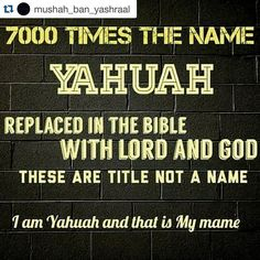 #Repost @mushah_ban_yashraal with @repostapp.  His name is not Jehovah or Yahweh; Its Yahuah.  @uriyahu_ban_yashraal -  Don't take part in remaining in those who take the name of YAHUAH our Creator in vain. Research it and proclaim the name YAHUAH that's was covered up but now revealed. HalalUYah!  Exodus 20:7 You shall not take the name of YAHUAH your Elohiym in vain; for YAHUAH will not hold him guiltless that take HIS name in vain.  #blackpride #Curlsonfleek #christianmingle #concious…