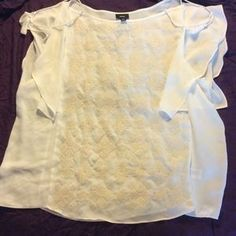 I just added this to my closet on Poshmark: White flowing top with sewn details on the front. Price: $8 Size: XXL