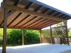 Carport 12 x 6 5 mt per 4 posti auto in legno lamellare e for Carport 2 posti
