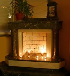 Fireplace Candles | Fireplace for Summer | Imitate the forest floor or set up a candle ...