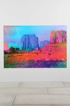 Technicolor Desert Wall Mural - I love this so much.