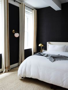 Dark Bedroom Walls - Tribeca Loft by Sheep + Stone
