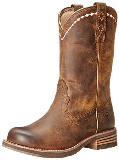 Ariat Women's Unbridled Roper Western Boot, Distressed Brown