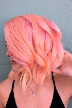 Stylish Short Peach Hair Color Ideas picture2