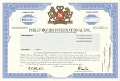 Philip Morris International Stock Certificate