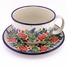 I love red roses so I love this pattern soo much! Polish pottery http://slavicapottery.com