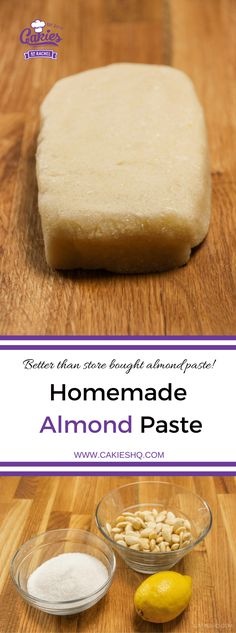 This homemade almond paste recipe is super easy and so much better than the stuff you can buy in the store! Learn how to make almond paste today. Dutch Recipes, Almond Recipes, Sweet Recipes, Baking Recipes, Dessert Recipes, Amish Recipes, Delicious Desserts, Yummy Food, Healthy Afternoon Snacks