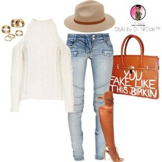 A fashion look from October 2015 featuring Exclusive for Intermix sweaters, Balmain jeans and Altuzarra boots. Browse and shop related looks.