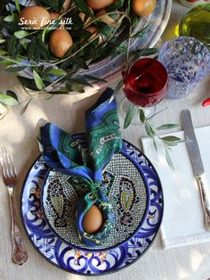 At Home Italian Easter by Francesca Easter Table Settings, Easter Food, Table Set Up, Some Ideas, Seaside, Design Inspiration, Weather, Houses, Times