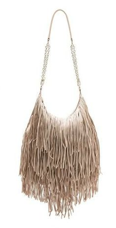 Get fringy! #currentlyobsessed #fashion #bags #nude #blush