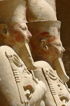 From Queen Hatshepsut's Mortuary Temple, Thebes West Luxor Egyptian Temple, Ancient Egyptian Art, Ancient Ruins, Ancient Artifacts, Ancient History, Art History, European History, Ancient Greece, American History