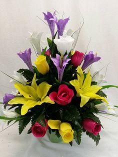 Flowers arrangements funeral etsy 21 Ideas for 2019 Grave Flowers, Cemetery Flowers, Church Flowers, Funeral Flowers, Funeral Flower Arrangements, Floral Arrangements, Cemetery Decorations, Memorial Flowers, Sympathy Flowers